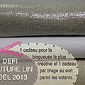 Défi couture lin noël 2013
