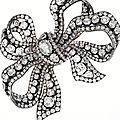 Silver-Topped-Gold and Diamond Bow Brooch, Circa 1850