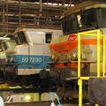 BB 7349 sous la rotonde de Bordeaux St Jean