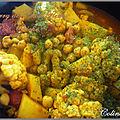 Curry de pois chiches au choux fleurs