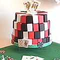 Gateau de <b>dragées</b> pour mariage thème casino