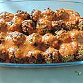 Boulettes de courgettes à la sauce tomates