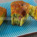 Cake au brocoli, cheddar et knacki