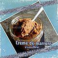 Crème de marrons vanillée au companion