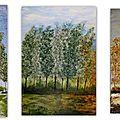 Peinture acrylique : saisons