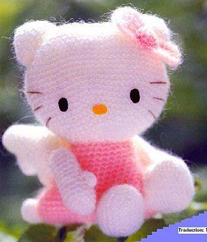 tricoter hello kitty laine