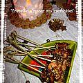 Crevettes d'amour aux cacahuètes
