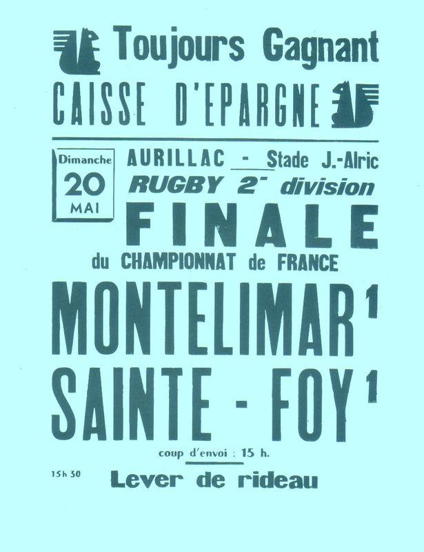 L'affiche de la finale