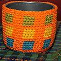 <b>Cache</b>-<b>pot</b> au <b>crochet</b> tapisserie