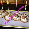 Madeleine a la fourme d' ambert et aux noix :mon 2ème defi sensations