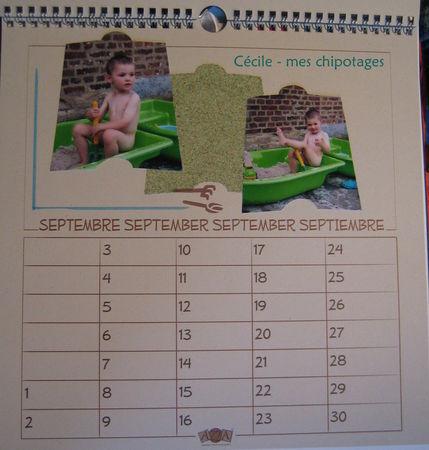 calendrier 09 - septembre