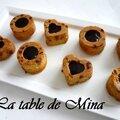 Petits gateaux aux <b>pépites</b> de <b>chocolat</b> et <b>pépites</b> de fruits au caramel beurre salé