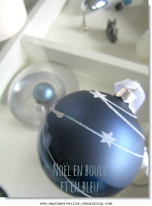 Noël en boule et en bleu -marimerveille
