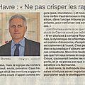 Clochemerle caen vs rouen: la sage et lucide analyse de joel bruneau, maire de caen