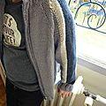 Blouson garçon - 10-023# Phildar automne - hiver