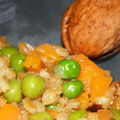Risotto d'épeautre aux <b>gardens</b> beans & carottes