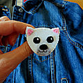 Broche ours <b>polaire</b>