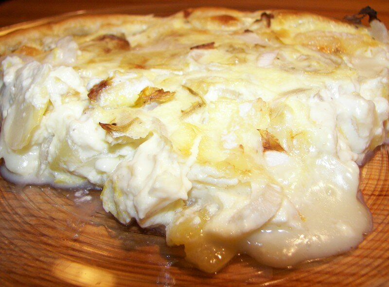 Tarte camembert / endives
