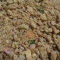 Crumble brocolis-chèvre-jambon