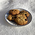 Dessert : Cookies aux canneberges