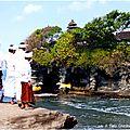 Entre jimbaran et munduk, sur la côte : pura tanah lot