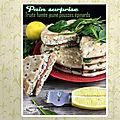 Pain surprise (pain suédois, truite fumée fromage frais, jeunes pousses d'épinard) à partager !
