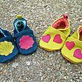 Les nouveaux chaussons de Marceline