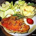 Rouelle de porc à la sauce teriyaki, gingembre
