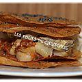 Millefeuilles craquants au foie gras