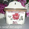 boite à sel décor à la rose