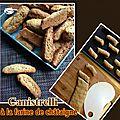 Canistrelli à la farine de châtaigne & noix