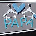 08. blanc, gris, turquoise et bleu - Papa suspendu