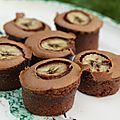 Muffin au chocolat, framboise et banane de c.felder