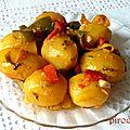 Pommes de terre cuisinées avec poivrons et coriandre