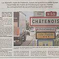 RN59 : Le maire de <b>Châtenois</b> ne comprend pas ce qui bloque...