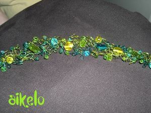 Collier 3 fils Anis-Jaune-Turquoise