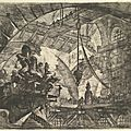 Giovanni Battista Piranesi, Prisoners on a Projecting Platform, from <b>Carceri</b> <b>d</b>'<b>invenzione</b> (<b>Imaginary</b> <b>Prisons</b>), ca. 1749–50