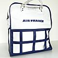 Vintage ... sac de voyage air france * blanc