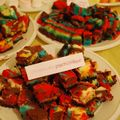 Buffet sucré & cheesecake psychédélique au chocolat blanc