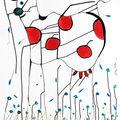 Vache dans la têmpete