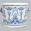 A Moustiers faience <b>wine</b> <b>cooler</b>, probably Clerissy's factory, circa 1720