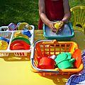 La vaisselle au jardin