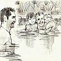 À la piscine
