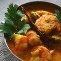 Curry de crevettes au yaourt