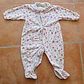 Pyjama été - 12 mois - au choix