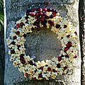 Calendrier de l'avent - jour 15 ~ couronne de noël pour oiseaux