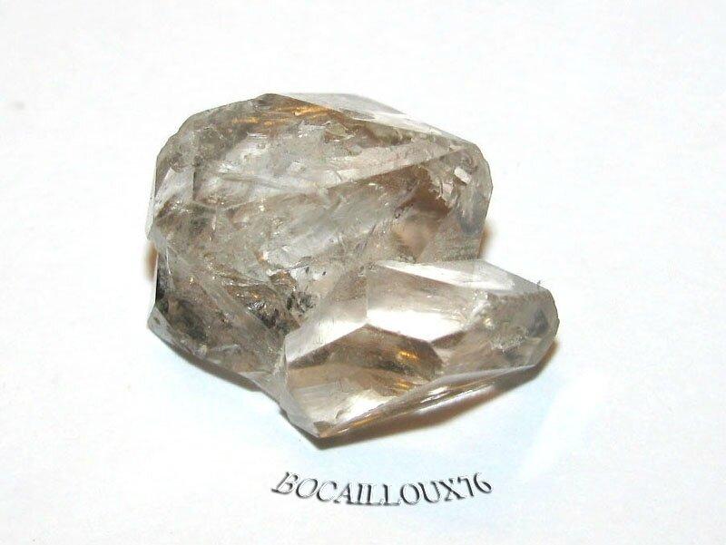 QUARTZ Diamant d'Herkimer 7 Naturel Fumé - LITHOTHERAPIE