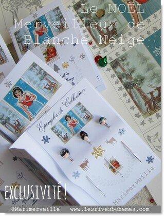 Marimerveille épingles de collection le Noël de blanche neige