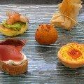 Assiette gourmande pour mise en bouche savoureuse...