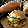 <b>BURGER</b> A LA PATATE DOUCE & FROMAGE A RACLETTE